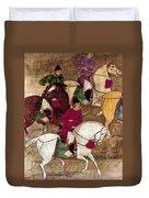 China: Horsemen Duvet Cover