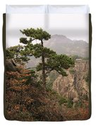 China, Mt. Huangshan Duvet Cover