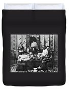 China: Opium Smokers Duvet Cover