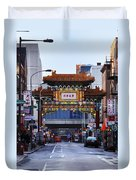 Chinatown - Philadelphia Duvet Cover by Bill Cannon