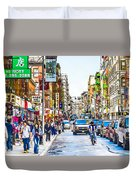 Chinatown In New York City 2 Duvet Cover