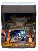 Chinatown In Philadelphia Duvet Cover