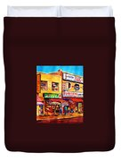 Chinatown Markets Duvet Cover