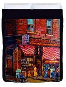 Chinatown Montreal Duvet Cover