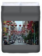 Chinatown, San Francisco Duvet Cover