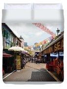 Chinatown Street Duvet Cover