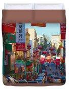 Chinatown Street Scene Duvet Cover