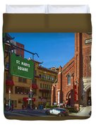 Chinatown View From St. Mary's Square Duvet Cover