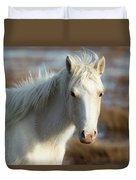 Chincoteague White Pony Duvet Cover