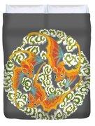 Chinese Bats Tee Shirt Design Duvet Cover