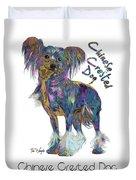 Chinese Crested Dog Pop Art Duvet Cover