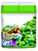 Chinese Dragon Ride Duvet Cover