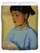 Chinese Girl With Fan 1914  Duvet Cover