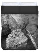 Chinese Lanterns In Black And White Duvet Cover