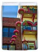 Chinese Lanterns Over Grant Street Duvet Cover