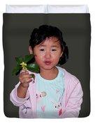 Chinese Orphan Girl Duvet Cover