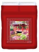 Chinese Pavilion Rhododendron Gardens Burnie Tasmania Duvet Cover