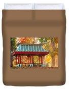 Chinese Pavillion In Tower Grove Park Duvet Cover