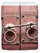 Chinese Red Door With Lock Duvet Cover