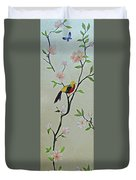 Chinoiserie - Magnolias And Birds #1 Duvet Cover