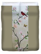 Chinoiserie - Magnolias And Birds #3 Duvet Cover