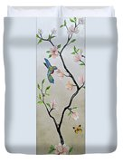 Chinoiserie - Magnolias And Birds #5 Duvet Cover