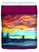 Chinook Arch Over Bow River Duvet Cover