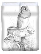 Chip And Chatter Duvet Cover