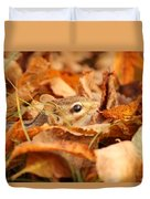 Chipmunk Among The Leaves Duvet Cover