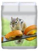 Chipmunk And Oranges 2 Duvet Cover