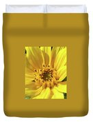 Chipmunk Planting - Sunflower Duvet Cover