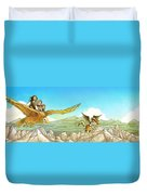 Chiricahua Mountains Panorama Duvet Cover