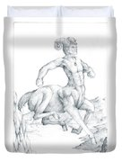 Chiron The Centaur Duvet Cover