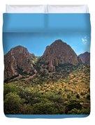 Chisos Mountain Range Duvet Cover