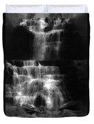 Chittenango Falls Bw Duvet Cover