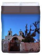 Chiu Chiu Church At Twilight Chile Duvet Cover
