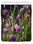 Chive Flowers Duvet Cover