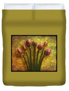Chives Buds Duvet Cover
