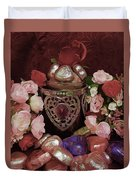 Chocolate And Romance Duvet Cover