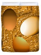 Chocolate Eggs Duvet Cover