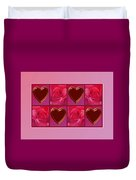 Chocolate Hearts And Roses Duvet Cover