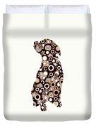 Chocolate Lab - Animal Art Duvet Cover