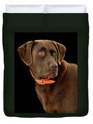 Chocolate Lab Duvet Cover by William Jobes