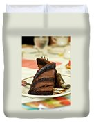 Chocolate Mousse Cake Duvet Cover