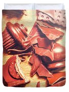 Chocolate Tableware Destruction Duvet Cover