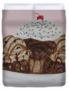 Chocolatey Brownie Sundae Duvet Cover