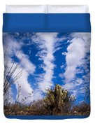 Cholla Blue Sky Duvet Cover