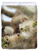 Cholla Cactus Garden Closeup Duvet Cover