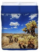 Cholla Cactus Garden In Joshua Tree National Park Duvet Cover