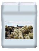 Cholla Cactus Garden Landscape Duvet Cover